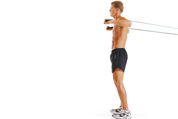 5. Übung: Brustpresse mit Tube – Schritt B
