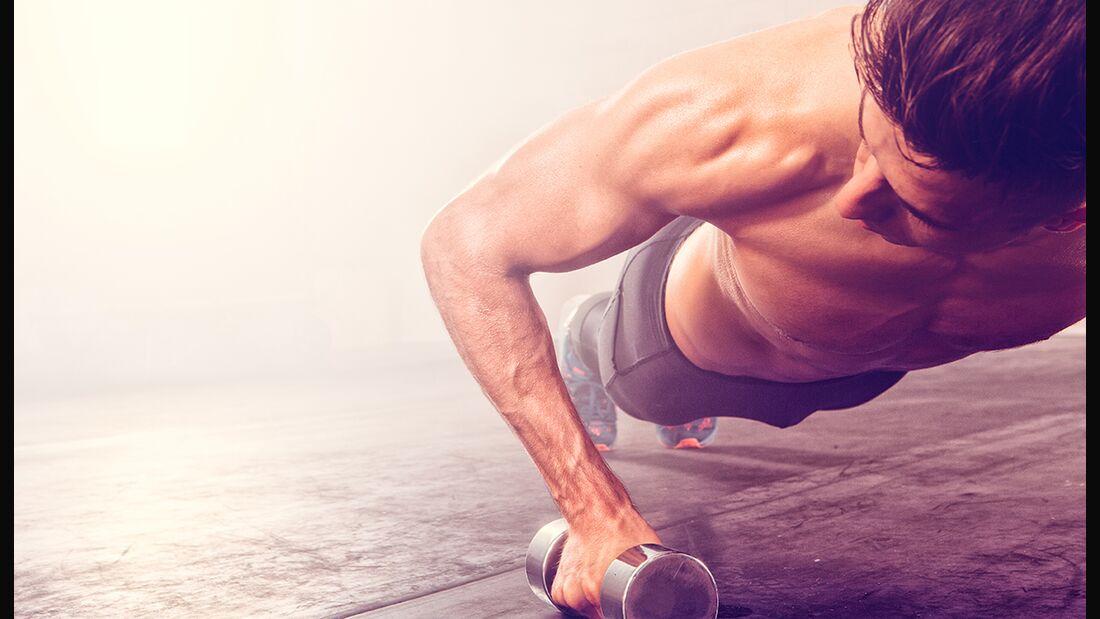 Achten Sie darauf, jede Muskelpartie zu fordern