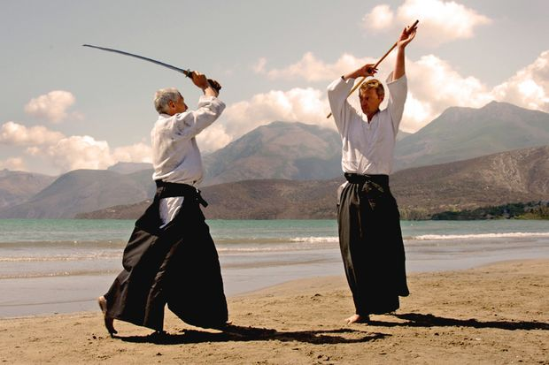 Aikido Training am Strand