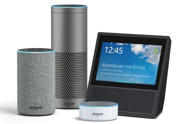 Alexa läuft auf Amazons Echo-Lautsprechern