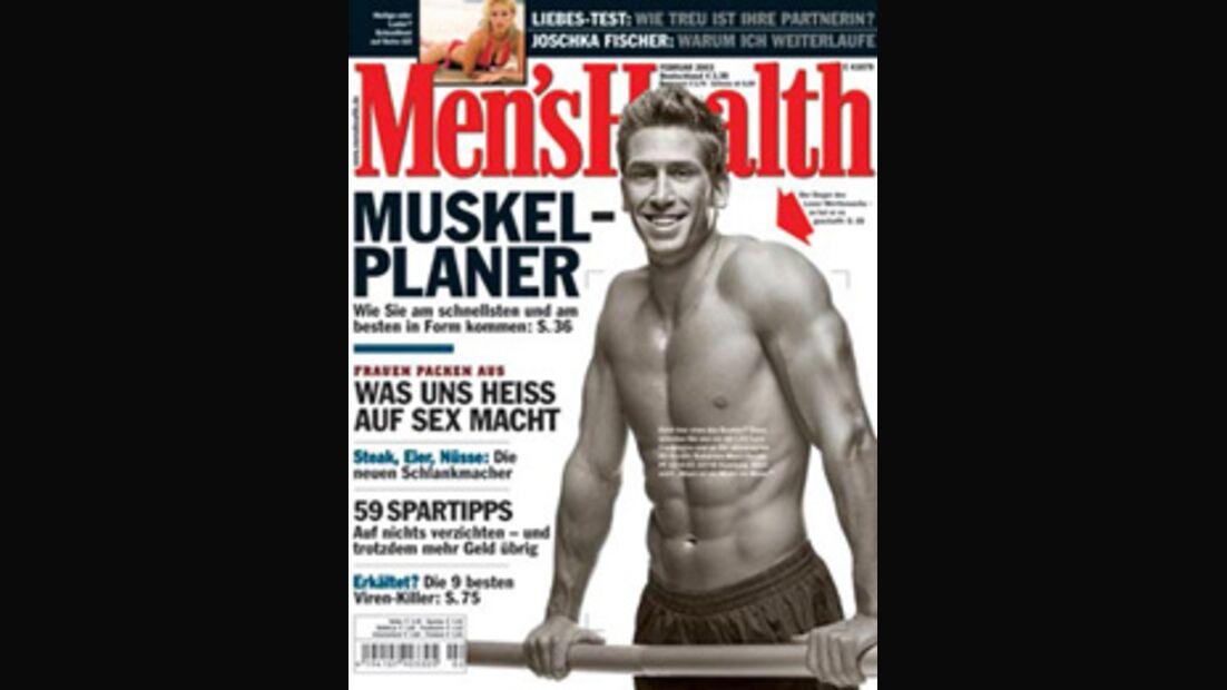 Alexander Schuch ziert das Men's Health-Cover 02/2003