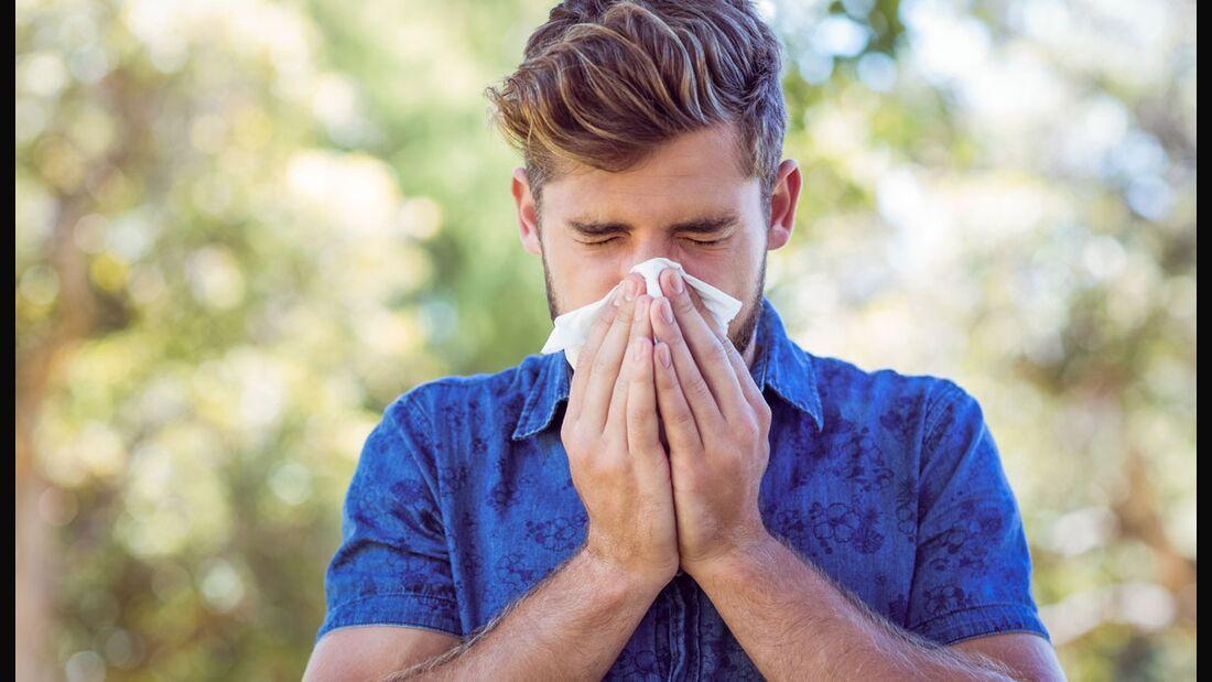 Allergischer Schnupfen gegen Pollen ist in den Industrieländern die häufigste Allergie