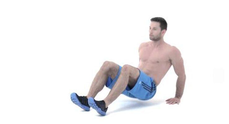 Alles geben, so lautet das Motto beim Tabata-Training. Dieses Workout verbrennt in nur 16 Minuten pro Tag Ihre restlichen Fettreserven. Der Krabbengang ist eine Feinschliff-Übung, die sie 1-3 Minuten einmal pro Woche machen können.