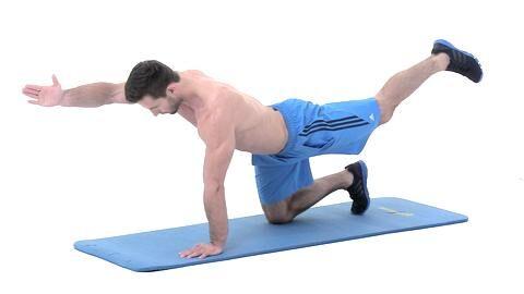 Alles geben, so lautet das Motto beim Tabata-Training. Dieses Workout verbrennt in nur 16 Minuten pro Tag Ihre restlichen Fettreserven. Der Vierfüßlerstand mit Arm- und Beinheben ist eine Feinschliff-Übung unserer 4x4 Fatburning-Formel Teil 4.