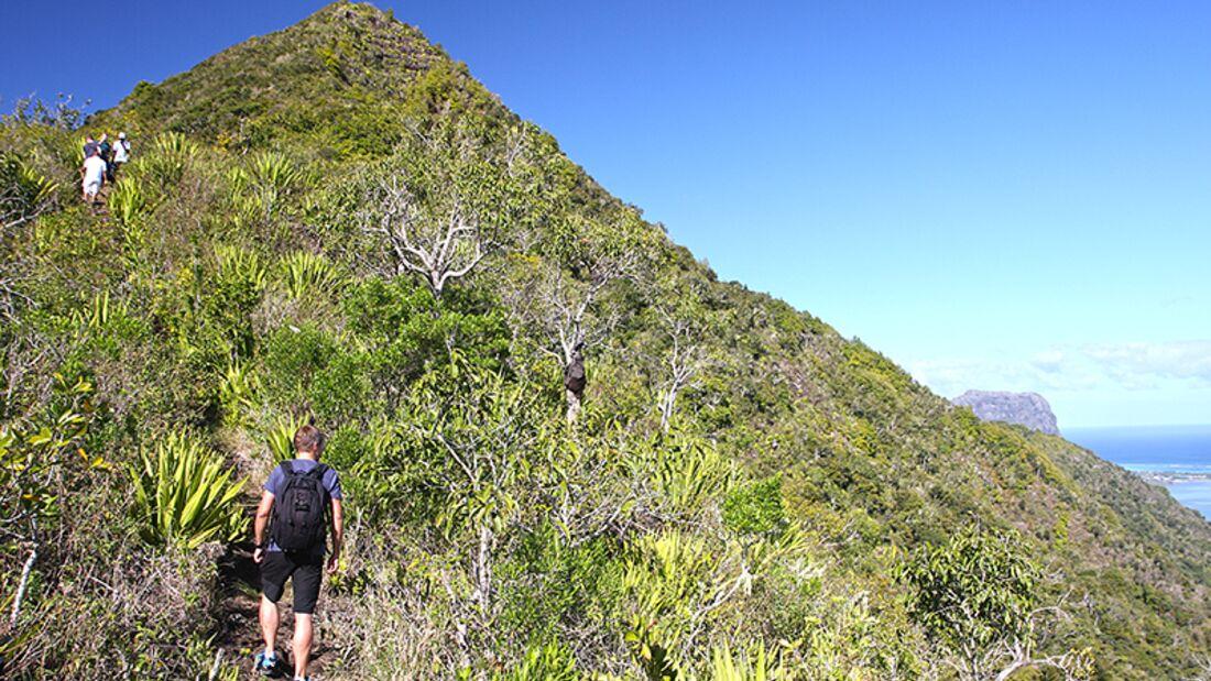Am Ruhetag testet Kollege Marco das Trekking-Angebot von Mauritius