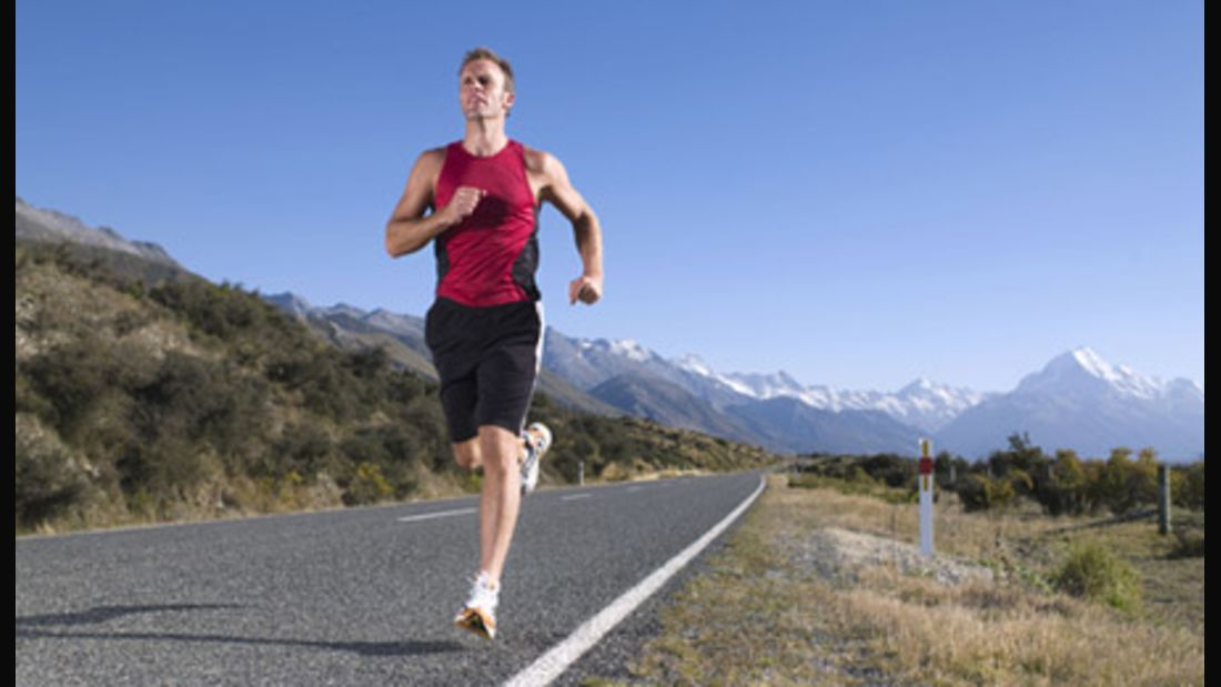 Ambitionierter Läufer beim Training