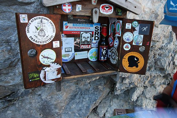 An fast jedem Klettersteig gibt es ein Routenbuch