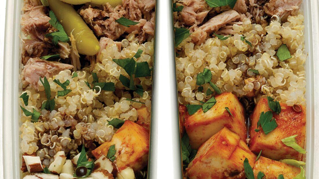 Anti-Muskelkater Salat mit Tofu, Tunfisch und Quinoa