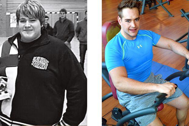 Anton hat abgenommen: vorher wog er 128 Kilo, hinterher 85 Kilo