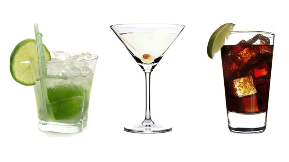 Auch bei Cocktails und Longdrinks können Sie Kalorien sparen