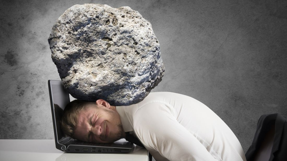Auf Ihnen lastet ein zentnerschweres Problem? Dann befolgen Sie unsere Anti-Stress-Tipps