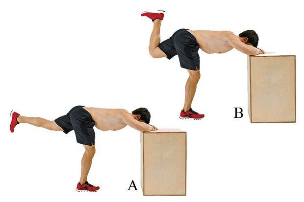 Aufgestützte Oberschenkel-Curls trainieren Beine und Gesäß