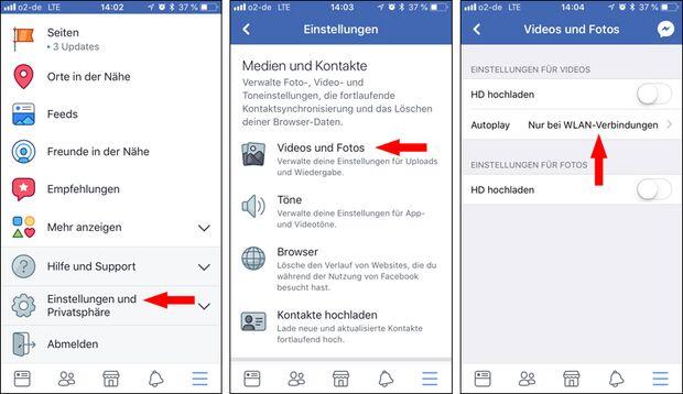 Autoplay bei Facebook auf WLAN stellen