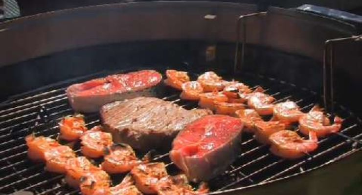 BBQ mit Thunfisch und Lachs
