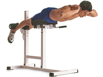 Back-Extensions, Rückenstrecker, Hyper-Extensions, Rumpfheben