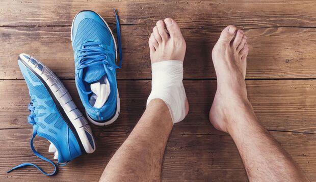 Bandagen helfen, schmerzende Gelenke zu stabilisieren