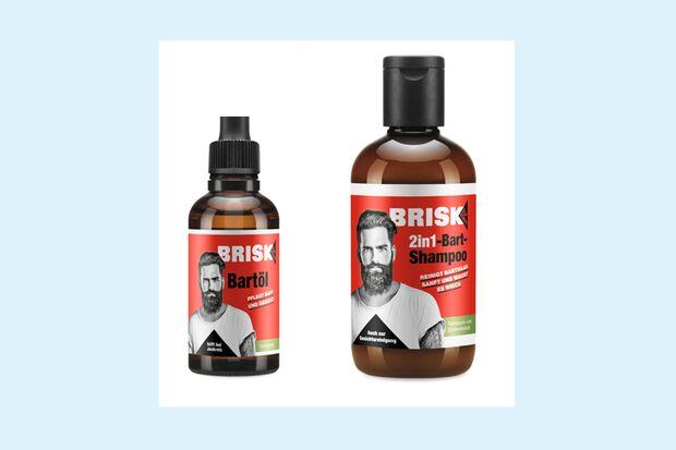 Bart-Shampoo und -Öl von Brisk