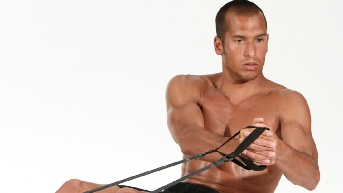 Bauchmuskel-Training mit Tubes