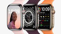 Bei der Apple Watch Series 7 fällt vor allem das neue Design auf