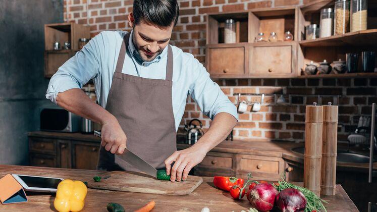Die Paprika wird verwendet, um Gewicht zu verlieren