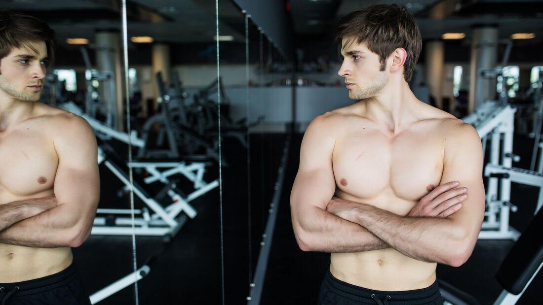 Bei einer Muskel-Dysmorphophobie handelt es sich um eine gestörte Körperwahrnehmung