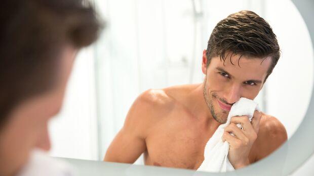Bei empfindlicher Haut trocken tupfen