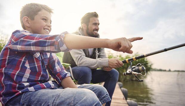 Beim Angeln können Sie Lebenserfahrungen austauschen