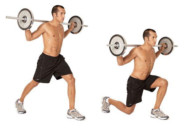 Beim Ausfallschritt kommen die oft sträflich vernachlässigten Gesäßmuskeln wieder zum Einsatz.