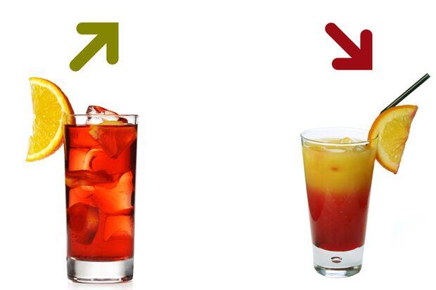 Beim Kalorienduell heißt es lieber Campari-Soda als Campari-Orange