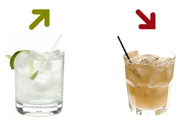 Beim Kalorienduell heißt es lieber Gin Tonic als Greyhound