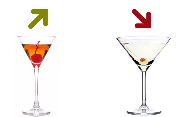 Beim Kalorienduell heißt es lieber Manhattan als Martini