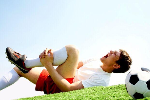Beim Sport verletzt man sich häufig