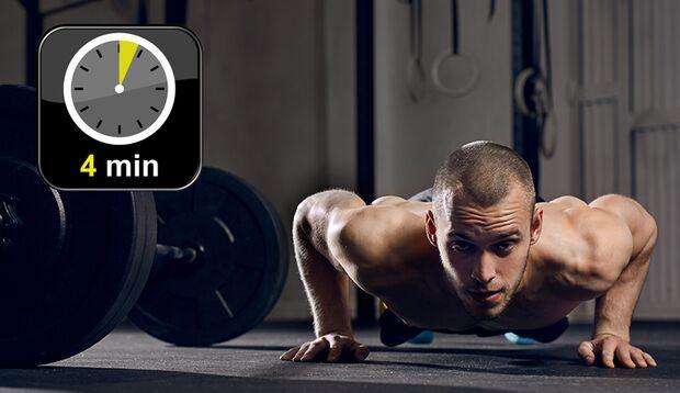 Beim Tabata-Training reichen 4 Minuten Workout, um Ihre Ausdauer und Fitness maximal zu fordern