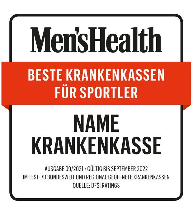 Beispiel: So sieht das Men's-Health-Siegel aus