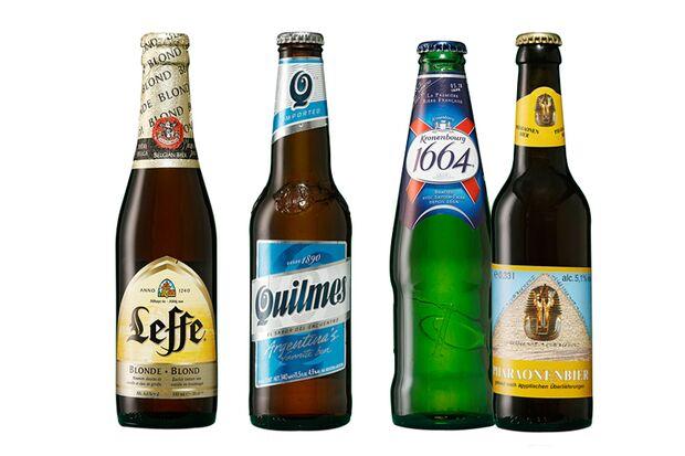 Beliebte Biere aus Belgien, Frankreich, Ägypten und Argentinien