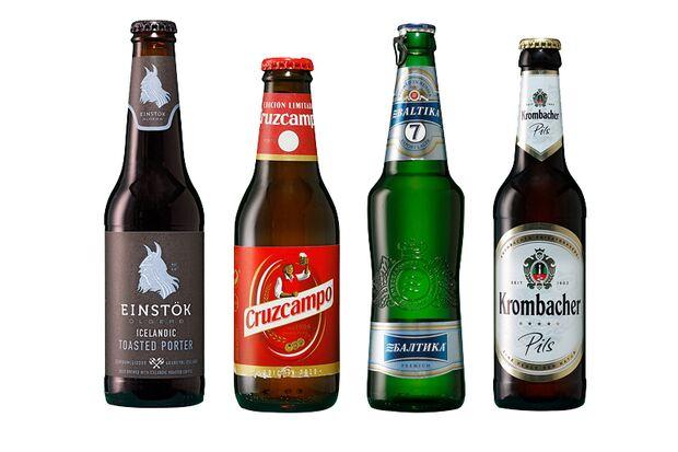 Beliebte Biere aus Island, Spanien, Russland und Deutschland