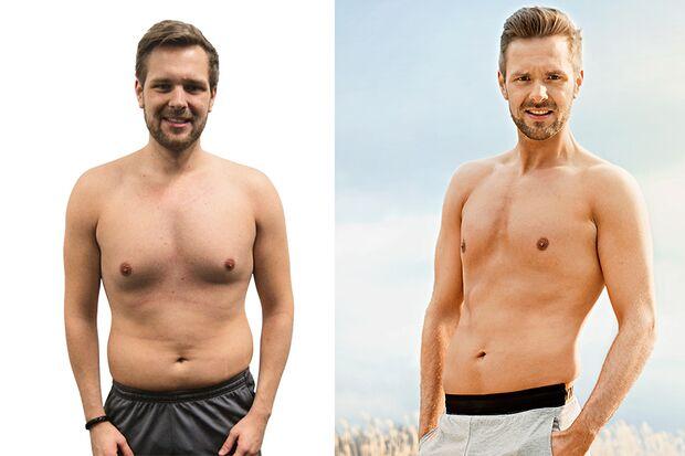 Benedikt hat in 100 Tagen BEach-Body-Programm 9,3 Kilo (!) abgenommen