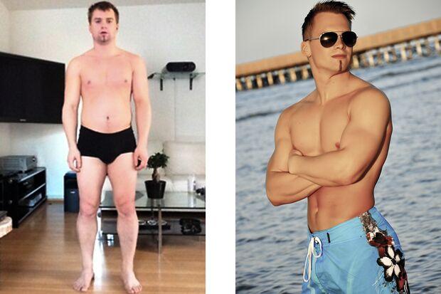 Bernd hat abgenommen: vorher wog er 81 und nachher 71 Kilo