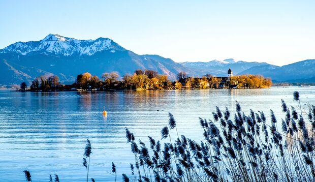 Besonders beliebt bei Wassersportlern: Der Chiemsee