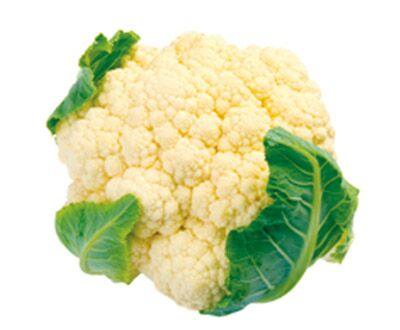 Blumenkohl enthält 125 Mikrogramm Folsäure pro 100 Gramm