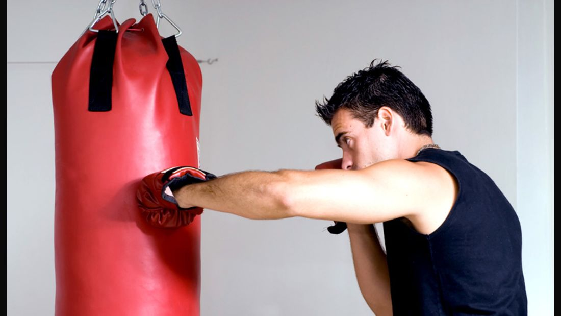 Boxer beim Punshing