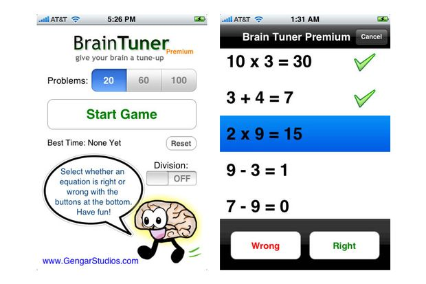 Brain Tuner fürs iPhone