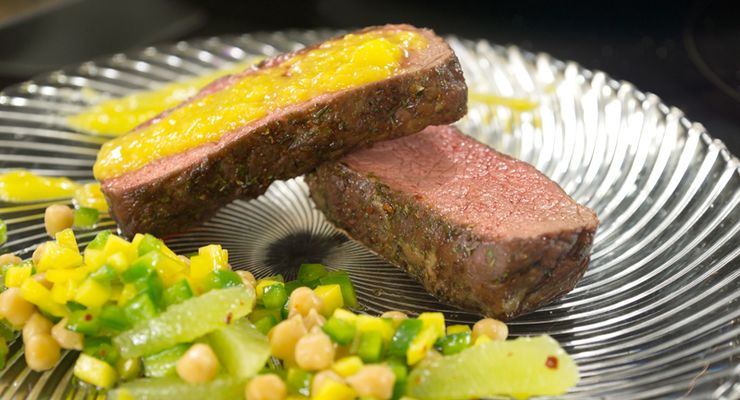 Brasilianischer Kichererbsen-Salat mit Roastbeef und Mango-Dip – in unserer 4-teiligen Serie finden Sie das wirkungsvollste Werkzeug, um Ihren Körper in Form zu bringen. Im dritten Teil Vollkornbrot, Mandeln, Avocado und Kichererbsen