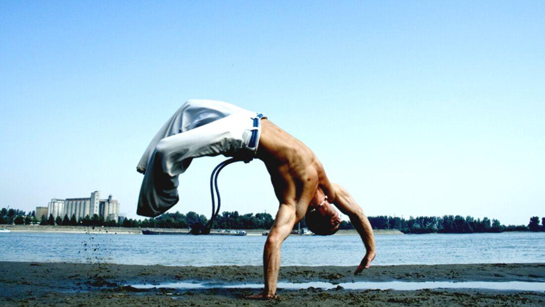 Capoeira ist sehr akrobatisch
