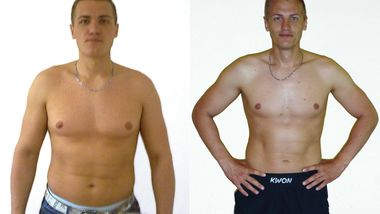 Challenger Igor Teske im Vorher-Nachher-Vergleich