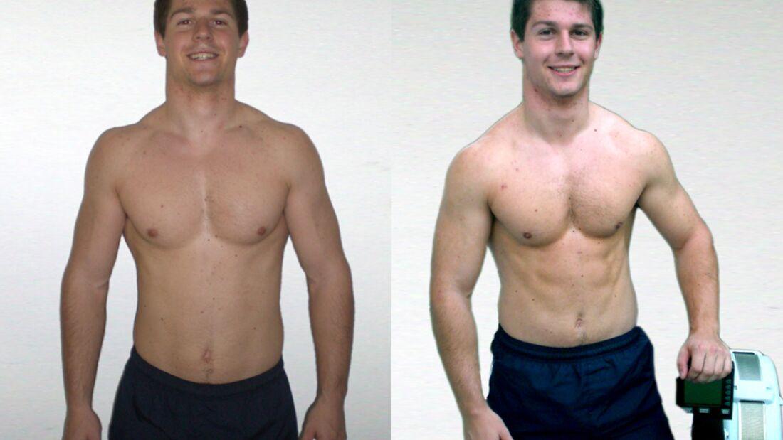 Challenger Markus Pley im Vorher-Nachher-Vergleich