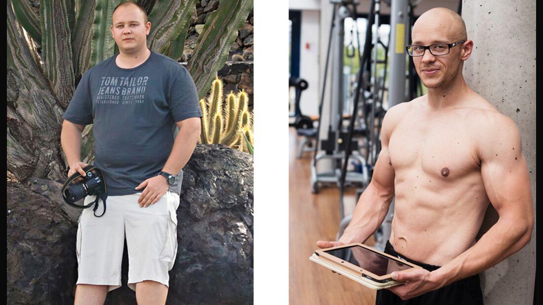 Christian wog vorher 118 Kilo, nachher 77 Kilo