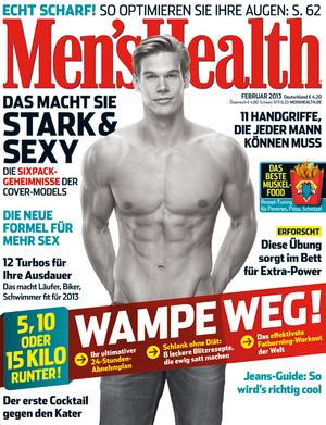Cover der Men's Health Februar-2013-Ausgabe