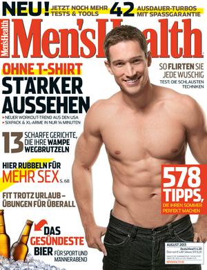 Covermodel der Men's Health August-2013-Ausgabe