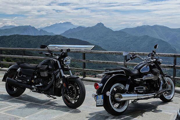Cruiser und Chopper 2015: Moto Guzzi Audace + Eldorado